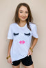 Eyelash and Lip Graphic Tee