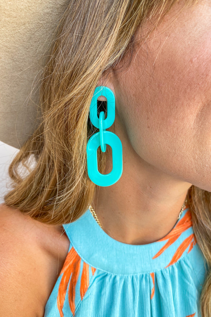 Brixton Mint Linked Earrings