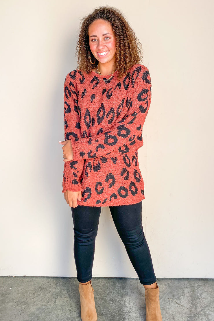 Higher Love Animal Print Sweater - FINAL SALE