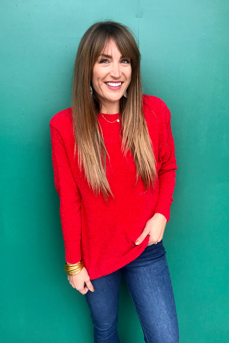 Show Stopper Red Sweater