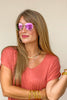 Heat Wave Pink/Gold Sunglasses +1.50 | Peepers