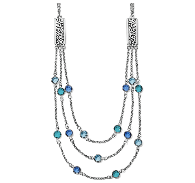 Elora Gems Blue Layer Necklace