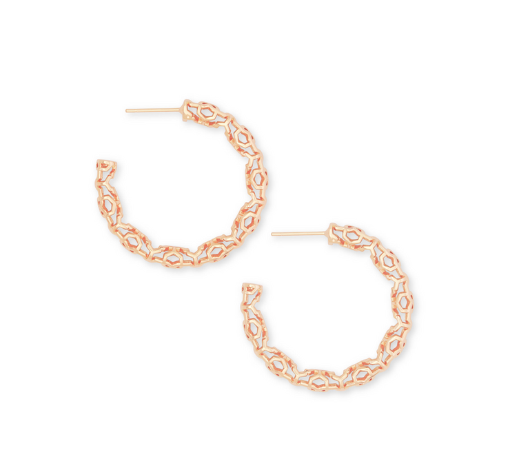 Maggie Small Hoop Earring - Rose Gold