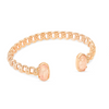 Macrame Elton Rose Gold Cuff Bracelet - Blush Wood