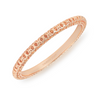 Maggie Bangle Bracelet - Rose Gold Filigree