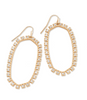 Danielle Crystal Open Frame Statement Earring - Rose Gold