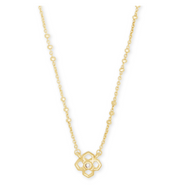 Rue Short Pendant Necklace - Gold