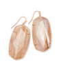 Faceted Danielle Rose Gold Statement Earring - Gold Dusted Pink Illusion