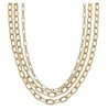 Yara Layered Chain Necklace - Worn Gold