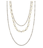 Elizabeth Gold Layer Necklace - Ivory Pearl