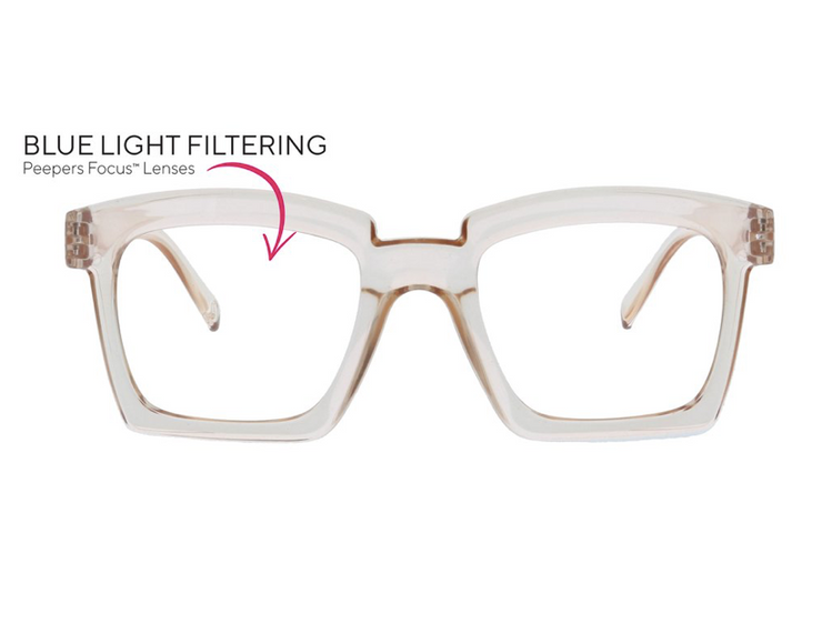Standing Ovation Blue Light Glasses - Tan