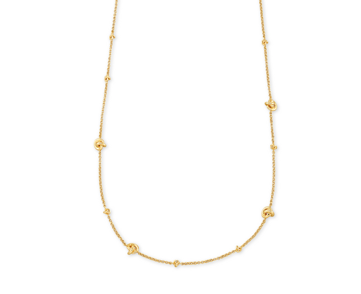 Presleigh Love Knot Adjustable Necklace - Gold