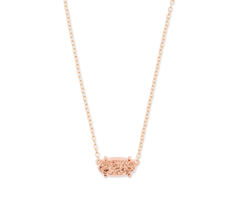 Ever Rose Gold Necklace - Rose Gold Drusy - FINAL SALE