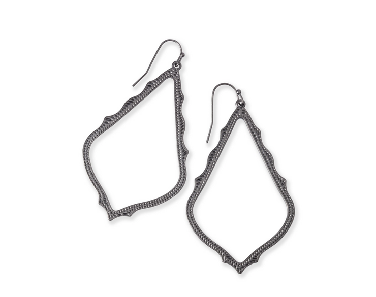 Sophee Drop Earrings - Gunmetal