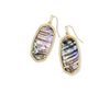 Elle Gold Drop Earring - Nude Abalone