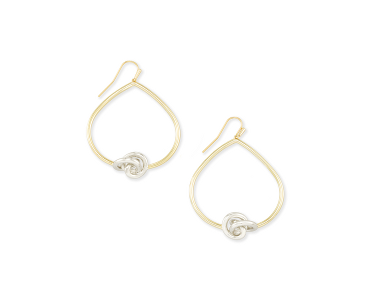 Presleigh Love Knot Open Frame Earrings - Mixed Metal