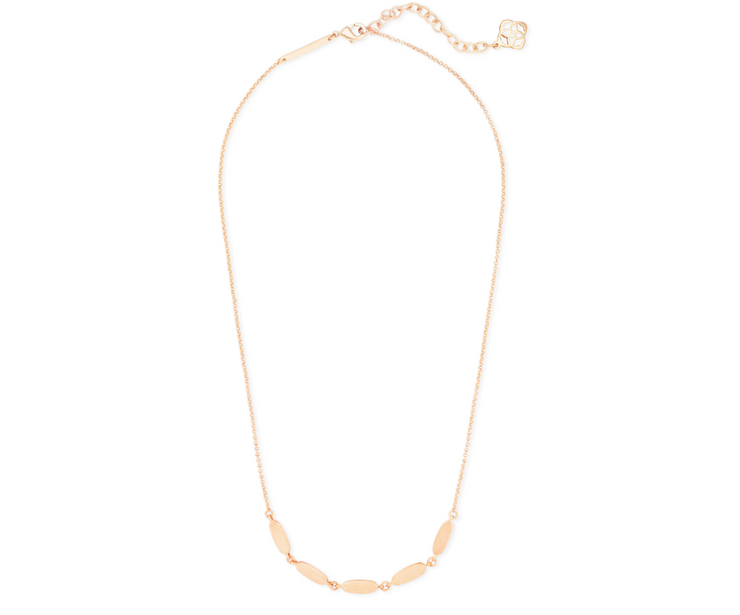 Fern Collar Necklace - Rose Gold