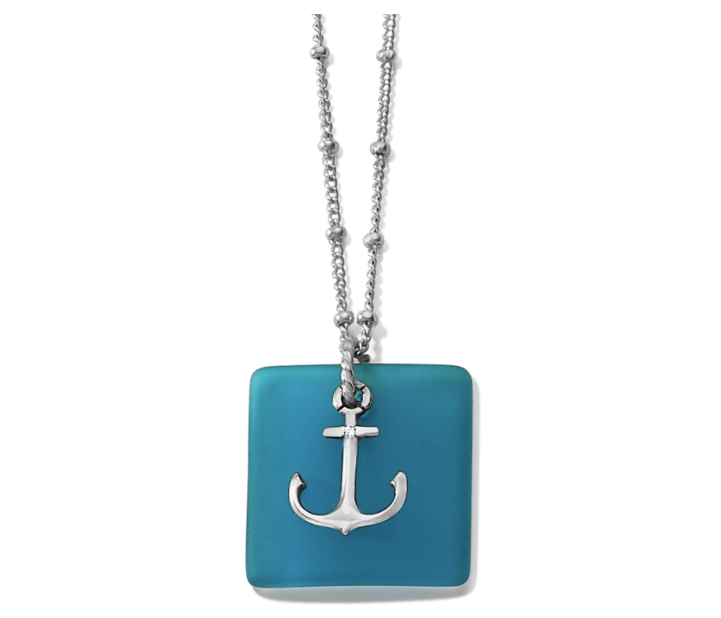 Seashore Anchor Glass Necklace