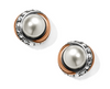Neptune's Rings Pearl Button Earring