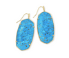 Faceted Gold Danielle Earring - Bronze Veined Turquoise Magnesite
