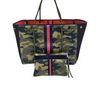 Greyson Tote - Green Camo/ Black Red