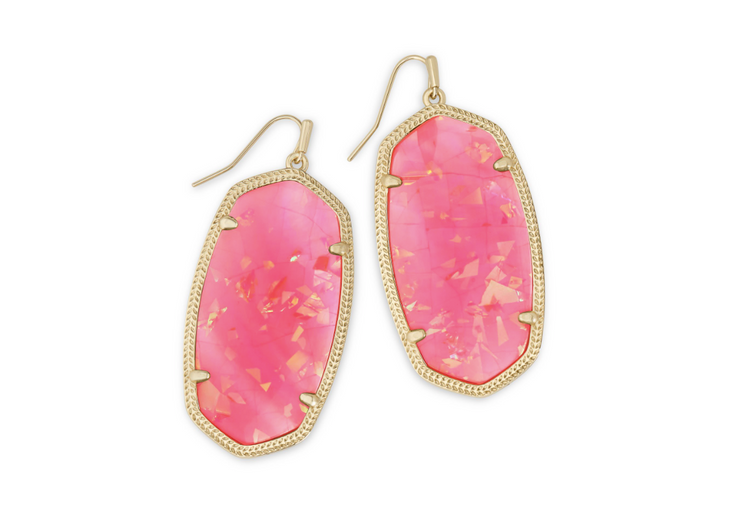 Danielle Gold Earring - Iridescent Coral Illusion