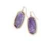Elle Gold Drop Earring - Purple Mica