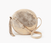 Groove Leather Small Crossbody - Distressed gold