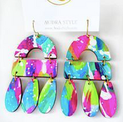 Elizabeth Earring - Spring Abstract
