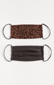 French Roast Leopard Reusable Face Mask - 2 Pack