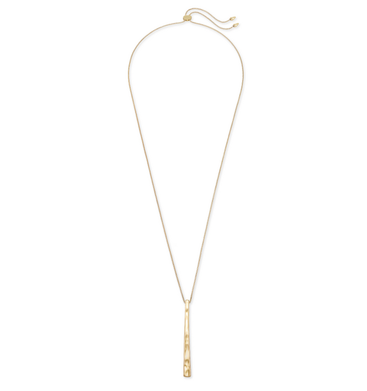 Zorte Long Pendant Necklace - Gold