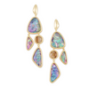 Margot Gold Statement Earring - Lilac Abalone