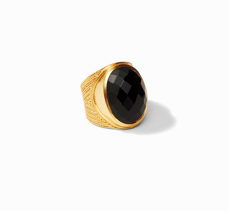 Verona Statement Ring - Obsidian Black