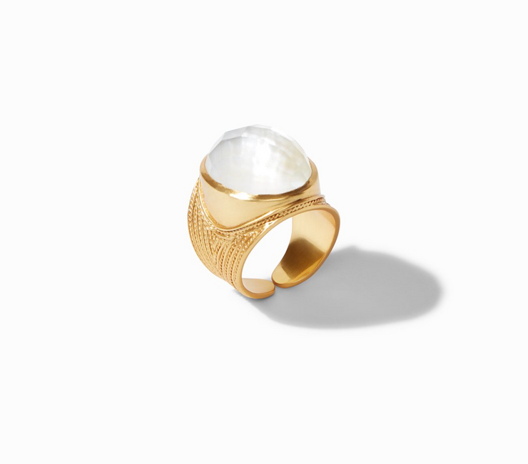 Verona Statement Ring - Iridescent Clear Crystal - FINAL SALE