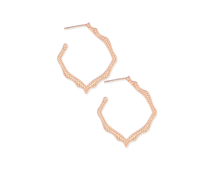 Miku Hoop Earring - Rose Gold