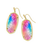 Faceted Elle Gold Drop Earrings - Watercolor Illusion