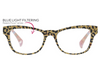 Orchid Island BLuelight Glasses - Tan/Leopard Floral