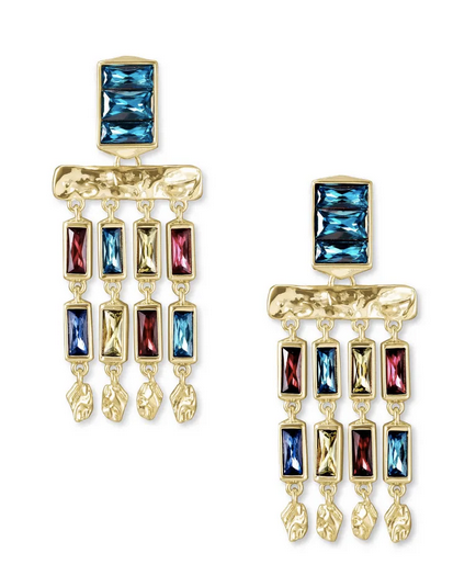 Jack Small Statement Earring Gold Jewel Tone - FINAL SALE