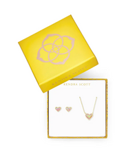 Ari Heart Light Pink Opal - Gift Set