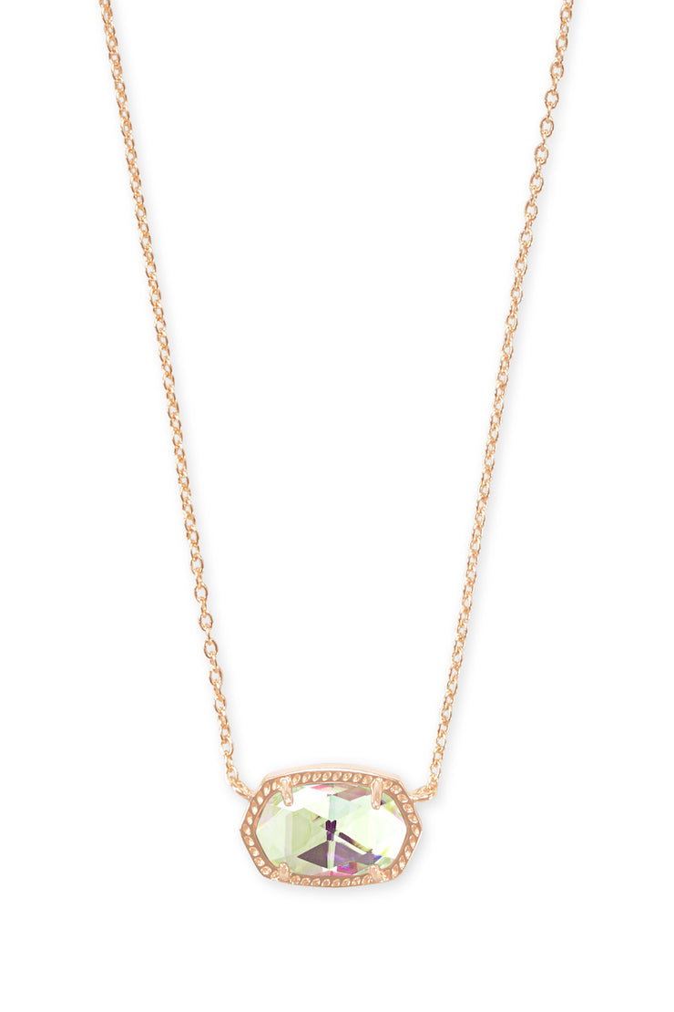 Elisa Necklace Rose Gold Dichroic Glass - The Willow Tree Boutique