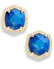 Davie Stud Earring Gold - Cobalt Howlite