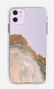 White & Gold Agate iPhone 11 Pro Case