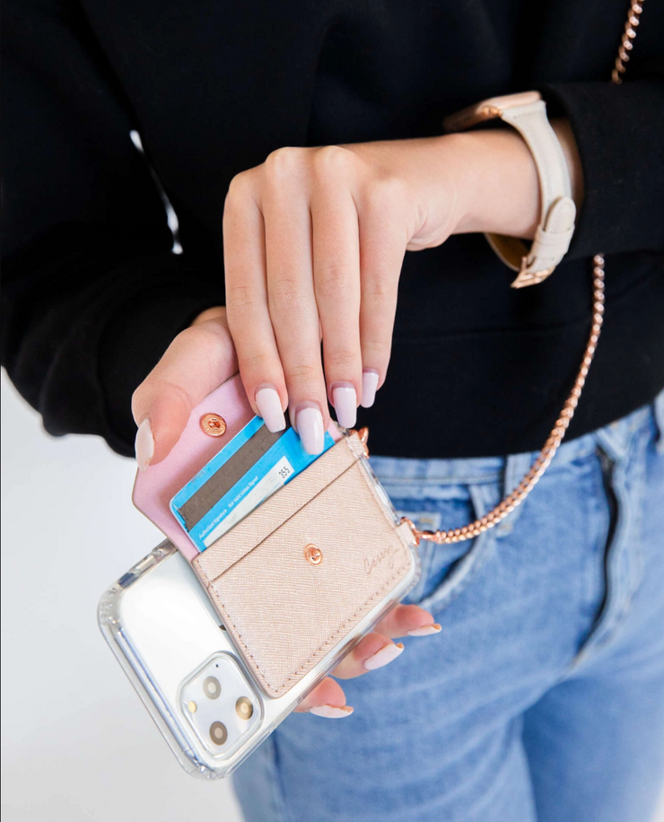 Crossbody Phone Pocket - Silver