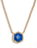 Davie Pendant Necklace - Gold Cobalt