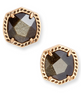 Davie Stud Earring - Vintage Gold Golden