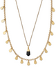 Freida Multi Strand Necklace - Vintage Gold