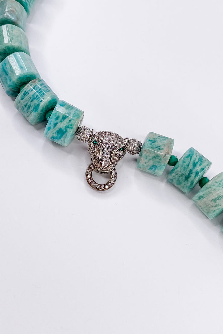 Amazonite Jaguar Choker | RockStar In Rome