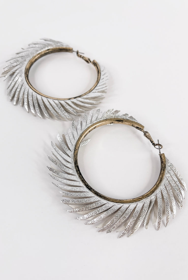Right Round Fringe Hoops - FINAL SALE