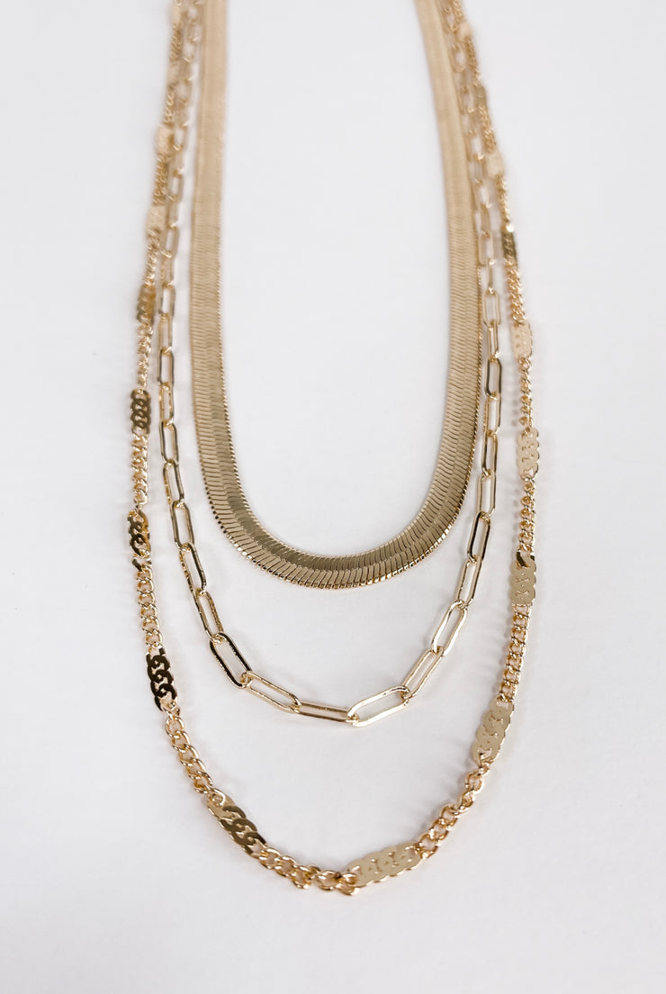 Come Follow Me Snake Layered Necklace - FINAL SALE
