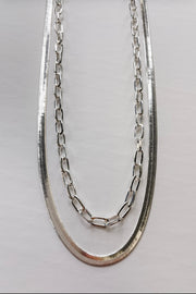 Away With You Herringbone Necklace - Silver